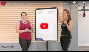 the proper order to work muscles