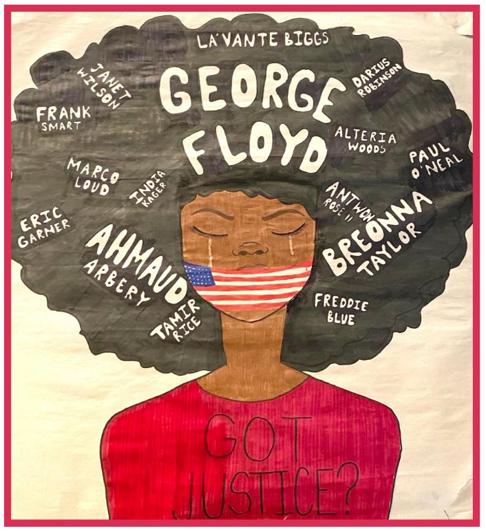George Floyd justice image by Chloe Kom