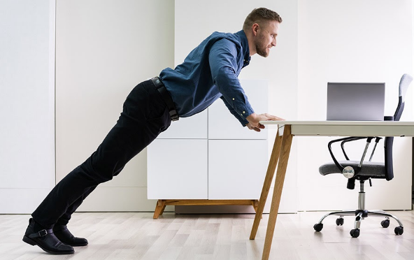 desk pushups