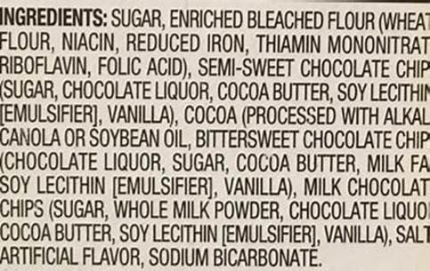food label ingredients
