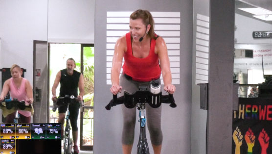 Indoor Cycling Class, packed with a LOT of Jump Drills Jump in the Club Cycle & Sculpt class