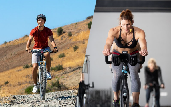 outdoor and indoor cycling