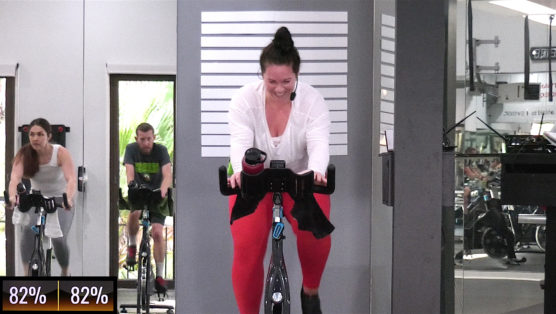 Christmas themed online spin class Christmas Spin® Along