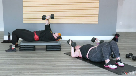 60-minute online weight training workout Weights with AJ